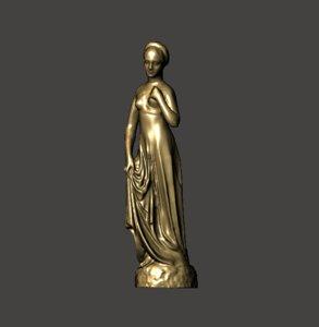 3D model juliet statue verona