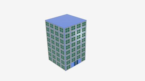 building square flat apartment 3D