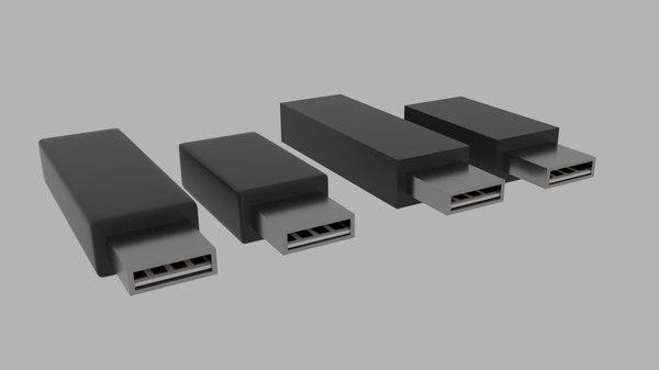 usb flash disk 3D model