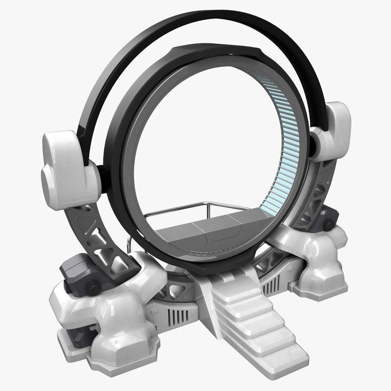 3D futuristic teleport