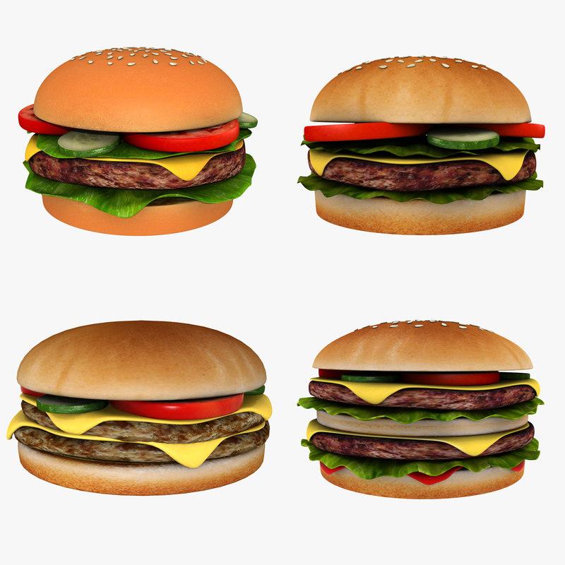 burgers cheeseburger double model