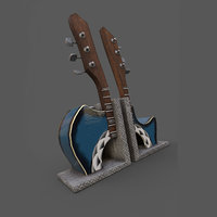 3D guitar bookends vinyl holders