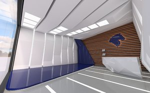 3D model interior modeled