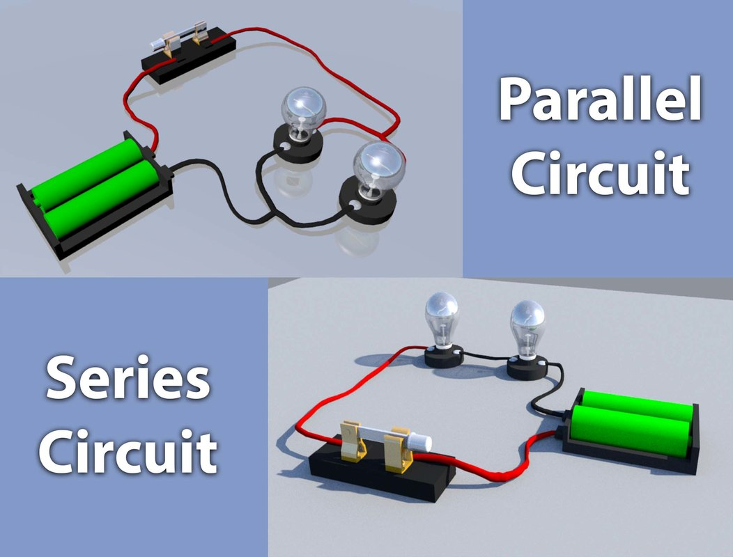 Direct Parallel Series Circuit Model Turbosquid 1321729 And Wiring