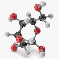 3D glucose molecular