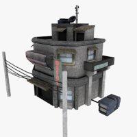 sci-fi outskirt 3D model