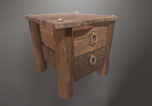 drawer polys 3D model