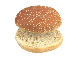 3D photorealistic scanned burger bun