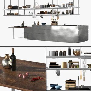 convivium arclinea kitchen 3D model