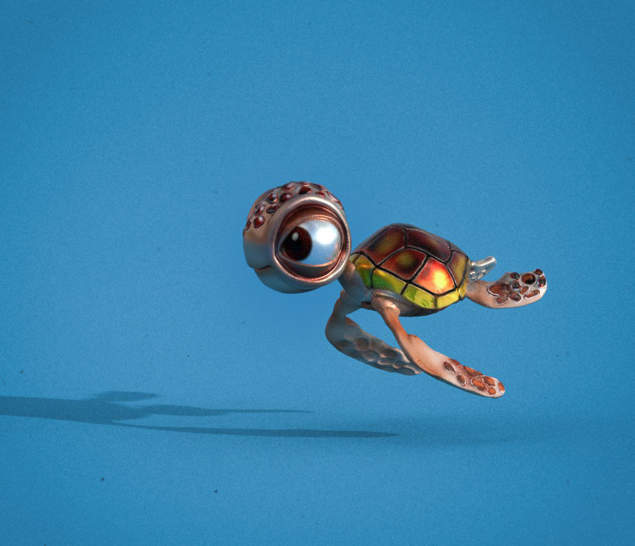 3D turtle cartoon toon