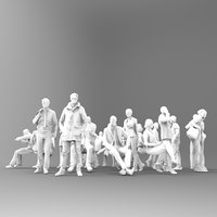 29 unique lowpoly people