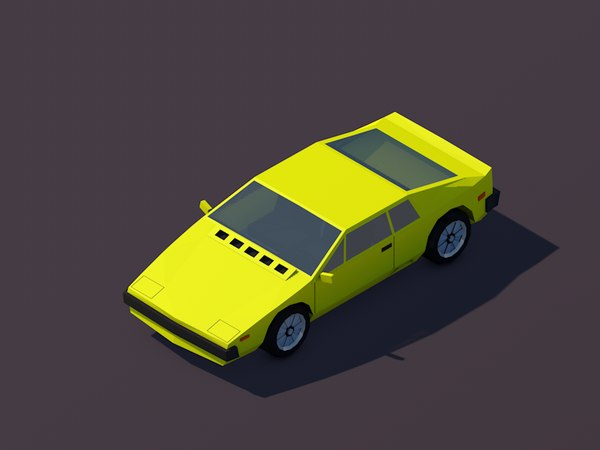3D cartoon sportcar