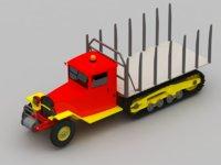 truck trees 3D