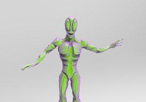friendly alien 3D model