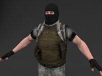 character human man 3D model