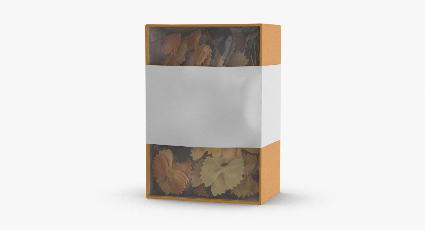 3D model pasta packaging 02 -