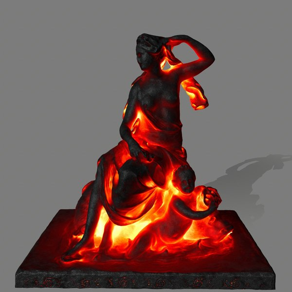 lava statue 3D model