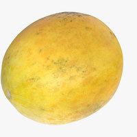 3D model melon fruit food
