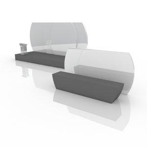 rostrum stage backdrop 4 3D model