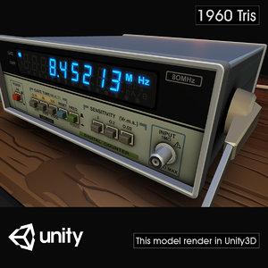electronic digital counter 3D model