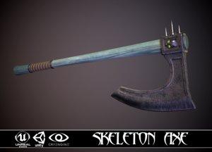 ax axe skeleton 3D model