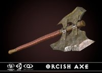 3D orcish axe