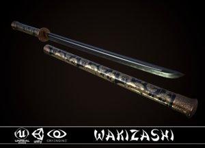 wakizashi cane 3D model