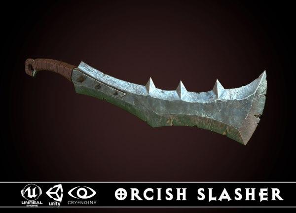 orcish slasher 2 3D model