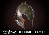 3D model orcish helmet 1
