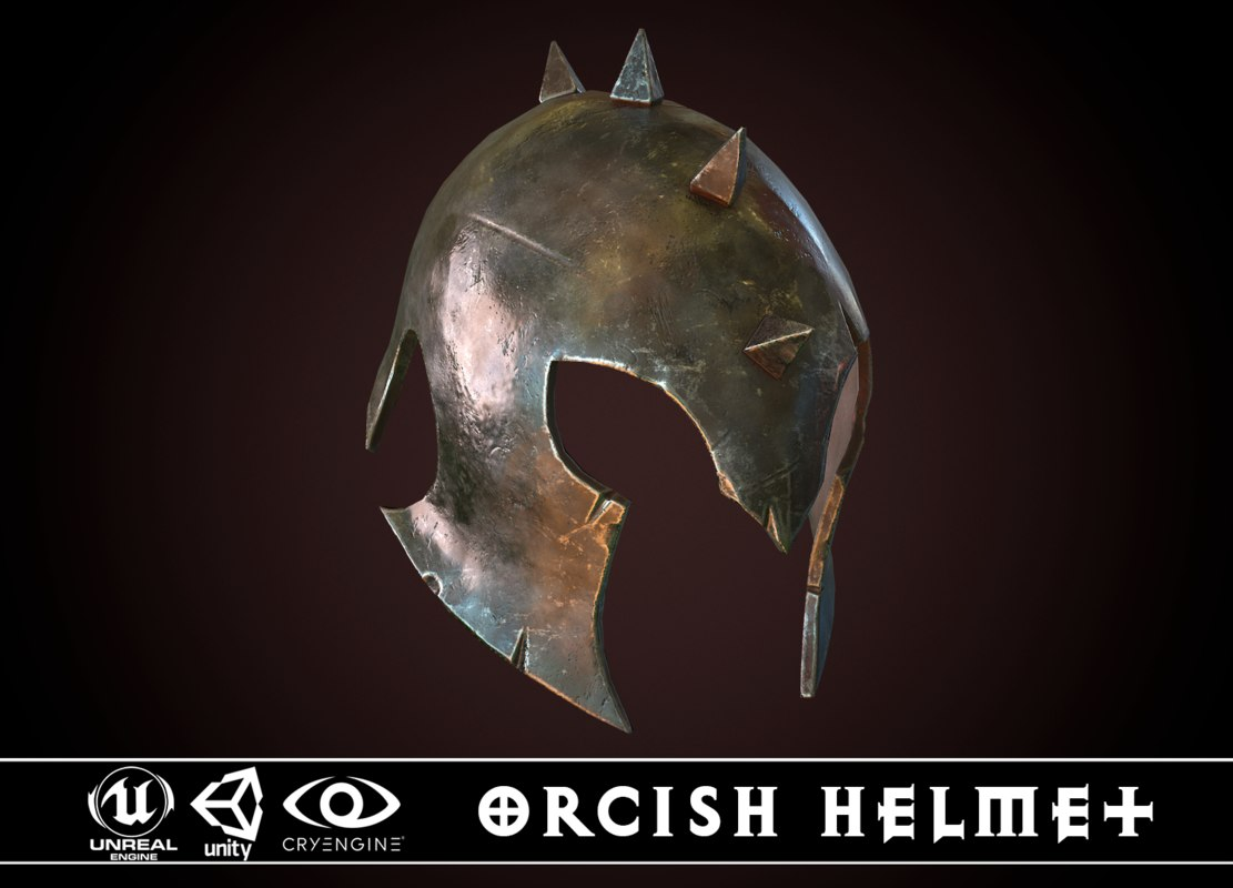 3D model orcish helmet 1