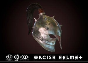 orcish helmet 2 3D model
