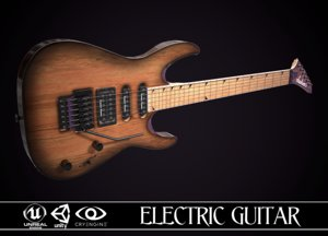 3D electric guitar jackson dinky