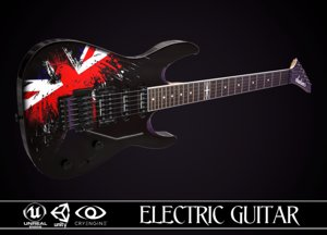 3D electric guitar jackson dinky model