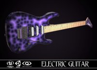 3D electric guitar jackson dinky