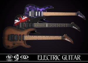 electric guitar jackson dinky 3D model
