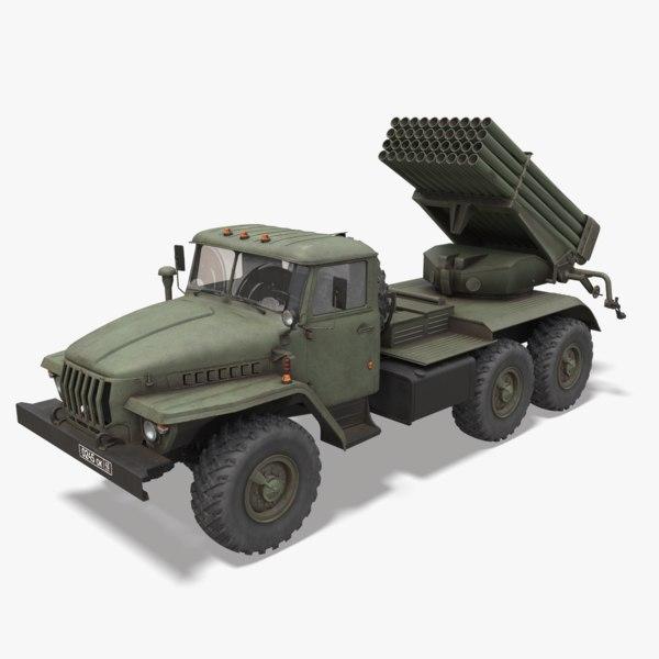 3D bm-21 grad ural model