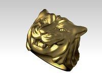 3D tiger ring sizes