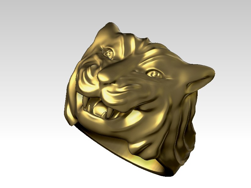 3D tiger ring sizes
