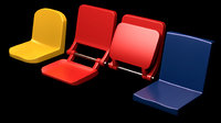 Set of tribune bleachers stadium seats 3d model