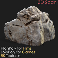 Photogrammetry 3D Scan Stone 12