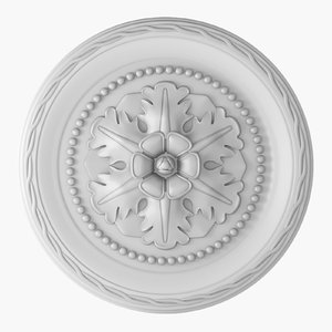 3D rose ceiling medallion m102