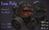 armored gas mask 3D