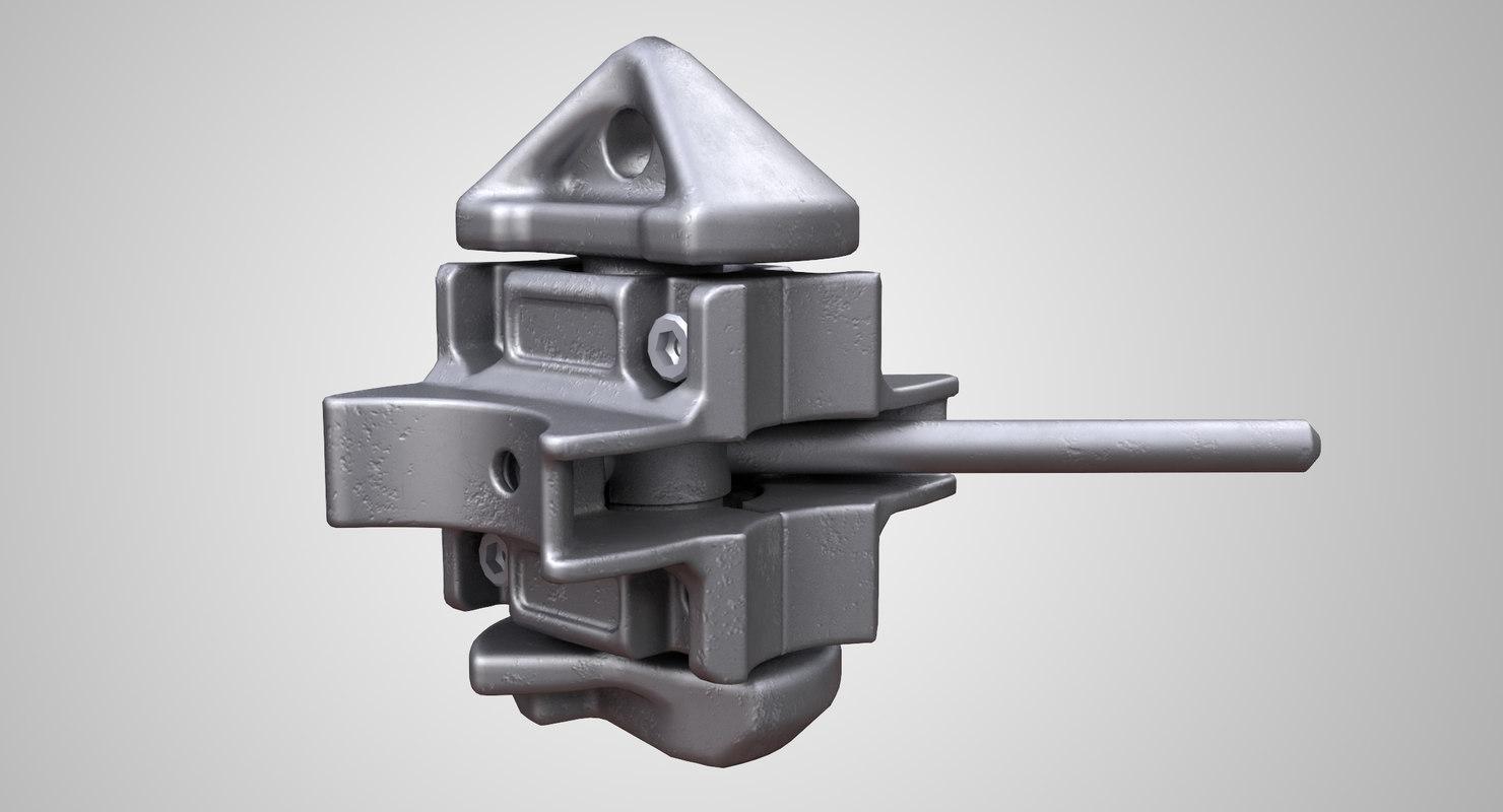 3D stacking twist lock model