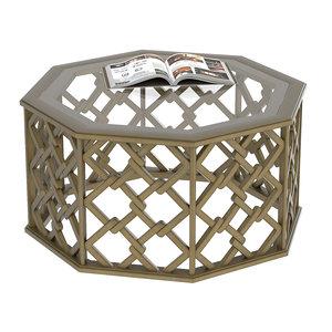 3D brucie hexagonal coffee table