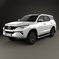 fortuner toyota 2016 3D model