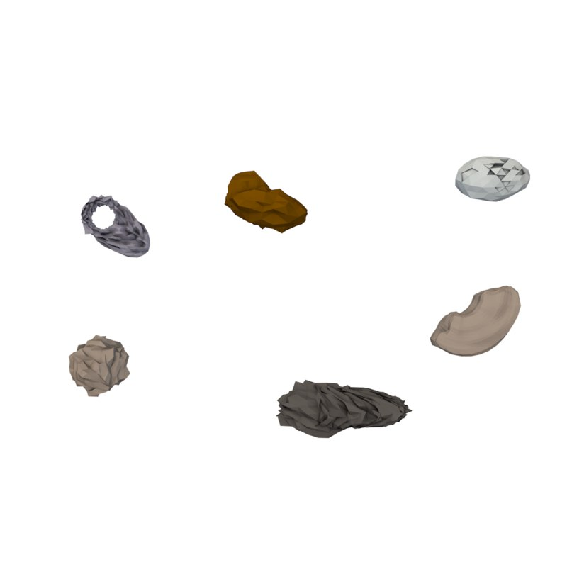 3D pack asteroids