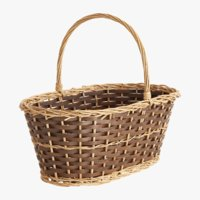 rectangular vine basket 3D model