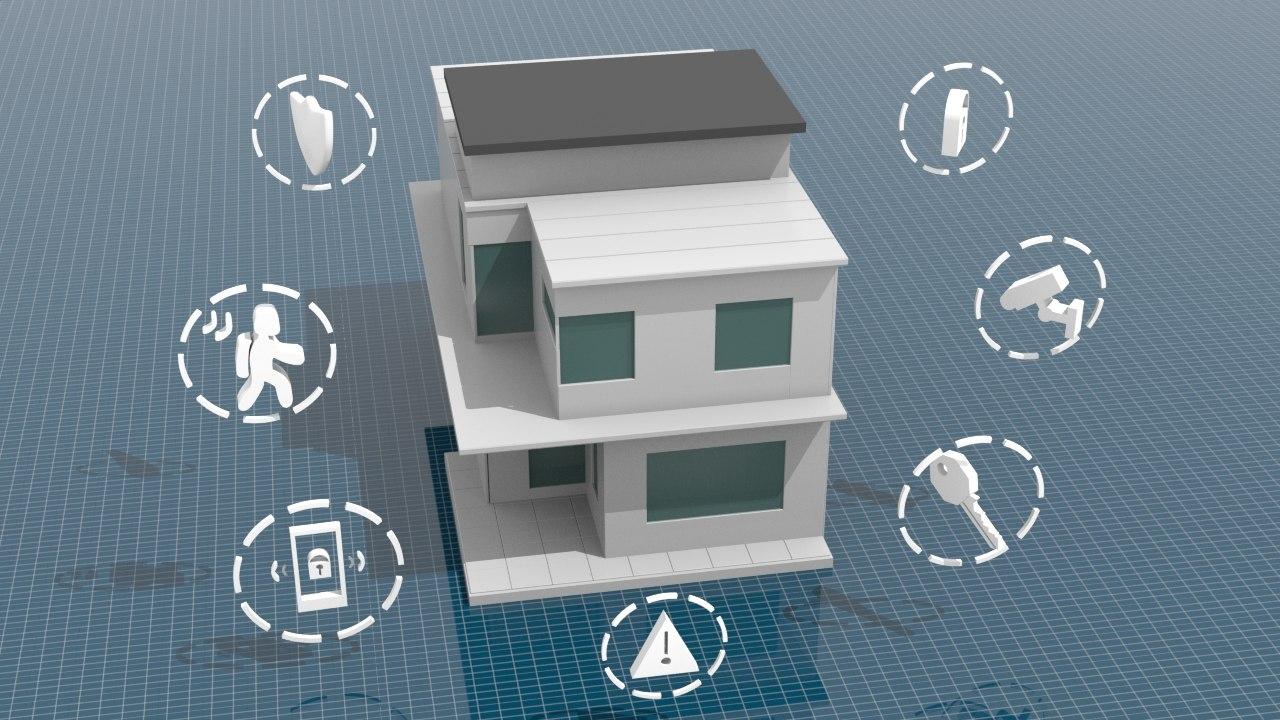 modern house isometric 3D