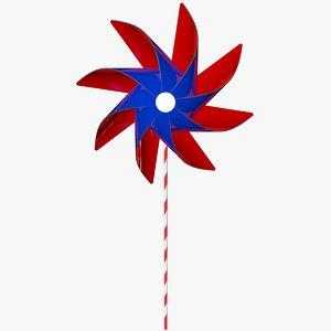 pinwheel wheel 3D model