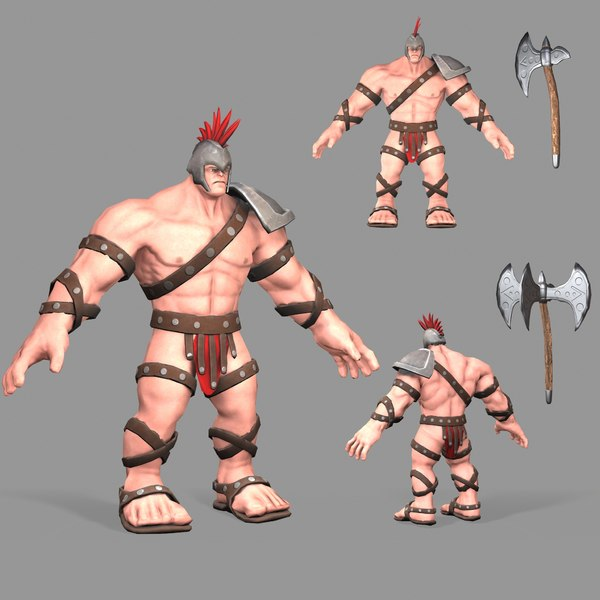 3D modeled gladiator